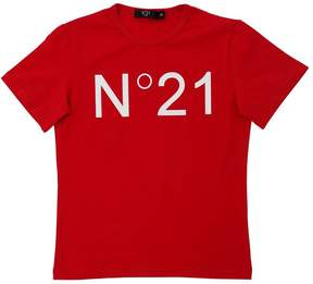 N°21 Logo Print Cotton Jersey T-Shirt