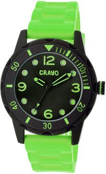 Crayo Unisex Splash Lime Strap Watch Cracr2206
