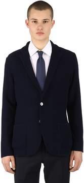 Lardini Cotton Chevron Knit Jacket