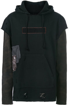 Hudson layered look distressed hoodie