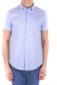 Armani Jeans Men's Light Blue Cotton Shirt.
