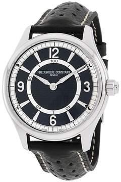 Frederique Constant FC282AB5B6 Leather Strap Black Dial 42mm Mens Watch