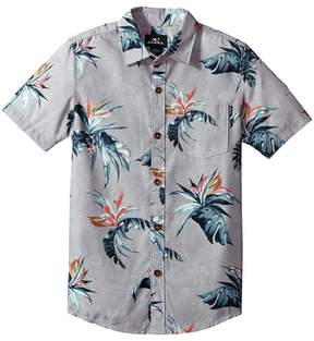 O'Neill Kids Islander Short Sleeve Woven Top Boy's Clothing