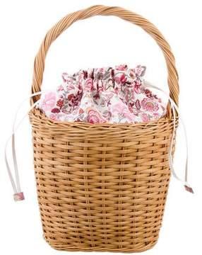 Edie Parker Lily Wicker Basketweave Bag