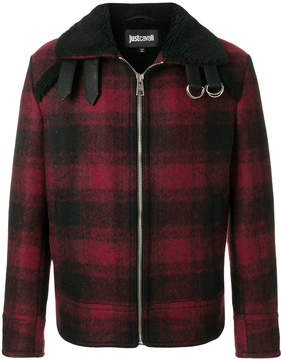 Just Cavalli checked coat