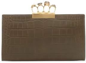 Alexander McQueen Embossed leather clutch
