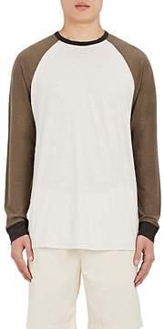 James Perse Men's Colorblocked Cotton-Linen Baseball T-Shirt