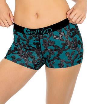 Ethika Blue Cactus Shorts - Women