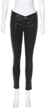 AllSaints Coated Mid-Rise Jeans