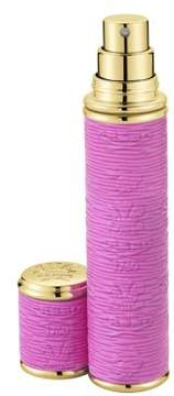 Creed Refillable Leather & Goldtone Trim Pocket Atomizer/Pink
