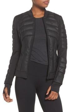 Blanc Noir Women's Mesh Inset Bomber Jacket