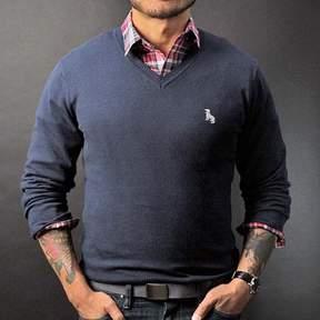 Blade + Blue Navy Blue V-Neck Sweater