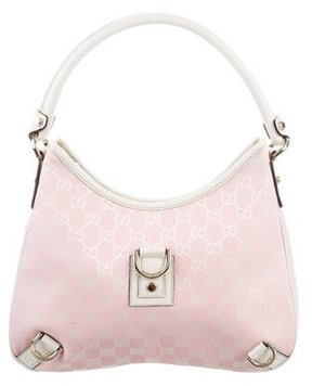 Gucci GG Canvas Abbey Hobo - PINK - STYLE