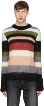 Saint Laurent Multicolor Striped Mohair Sweater