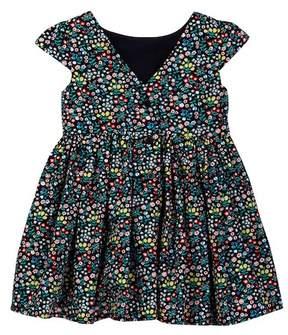 Joe Fresh Cap Sleeve Floral Dress (Toddler & Little Girls)