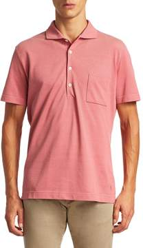 Luciano Barbera Men's Dusty Red Solid Pique Polo