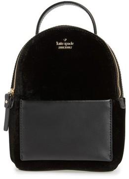 Kate Spade Watson Lane Velvet Merry Convertible Backpack - Black