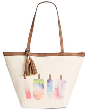 Style & Co. Printed Canvas Popsicle Tote, Created for Macy's
