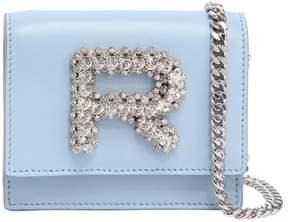 Rochas Leather Bag W/ Crystal Logo