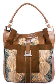 Anya Hindmarch Leather-Trimmed Snakeskin Hobo