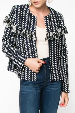 Everly Tweed Fringe Jacket