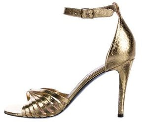 Celine Metallic Multistrap Sandals