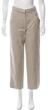 Cacharel Linen-Blend Mid-Rise Pants