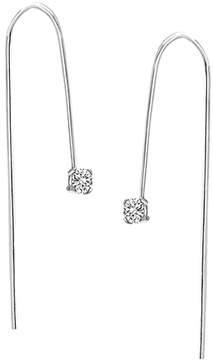 Bliss Square-Cut Cubic Zirconia & Sterling Silver Threader Earrings