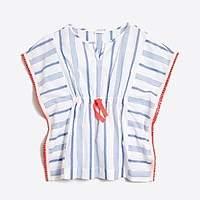 J.Crew Factory Girls' striped pom-pom tunic
