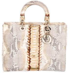 Christian Dior Large Python Lady Bag