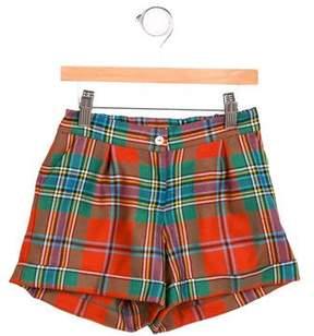Oscar de la Renta Boys' Plaid Wool Shorts