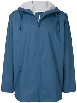 Rains zipped hooded jacket