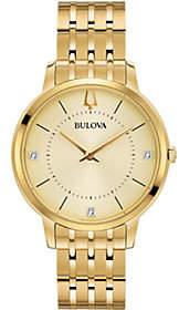 Bulova Women's Goldtone Classic Diamond Watch