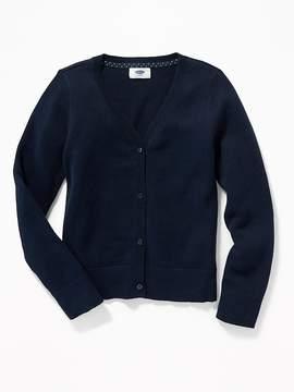 Old Navy Uniform V-Neck Cardi for Girls