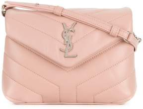 Saint Laurent quilted Monogram shoulder bag - PINK & PURPLE - STYLE