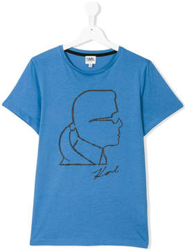 Karl Lagerfeld outline T-shirt