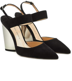 Paul Andrew Pawson Suede Slingback Pumps