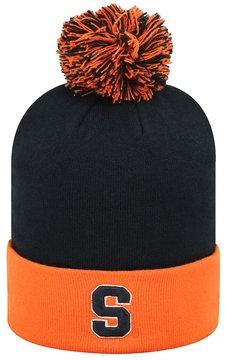 Top of the World Adult Syracuse Orange Pom Knit Hat