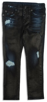 True Religion Boys' Rocco Coated Distressed Skinny Jeans - Little Kid