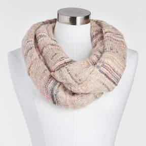 World Market Blush Mixed Knit Snood Scarf