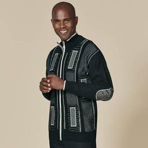 Stacy Adams Men's Suede Trimmed Sweater
