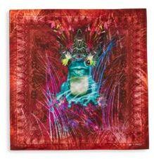 Etro Frog Silk Pocket Square