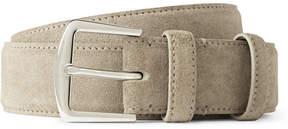 Loro Piana 3.5cm Stone Suede Belt