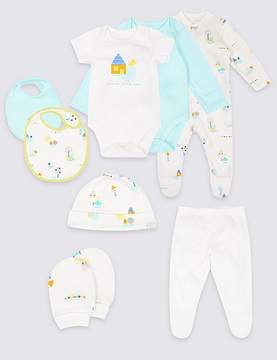 Marks and Spencer 8 Piece Unisex Pure Cotton Outfit