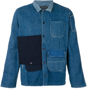 Longjourney patched denim shirt