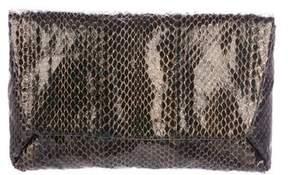 Lanvin Snakeskin Envelope Clutch