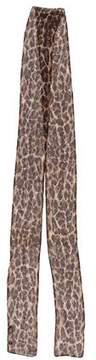 Dolce & Gabbana Cheetah Print Silk Scarf