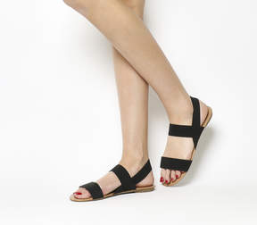 Office Swift Elastic Black Sandals