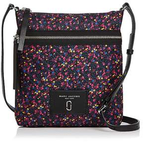Marc Jacobs Biker North/South Mixed Berries Print Nylon Crossbody - BLUE MULTI/SILVER - STYLE