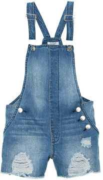 Bebe Girls Denim Shortall